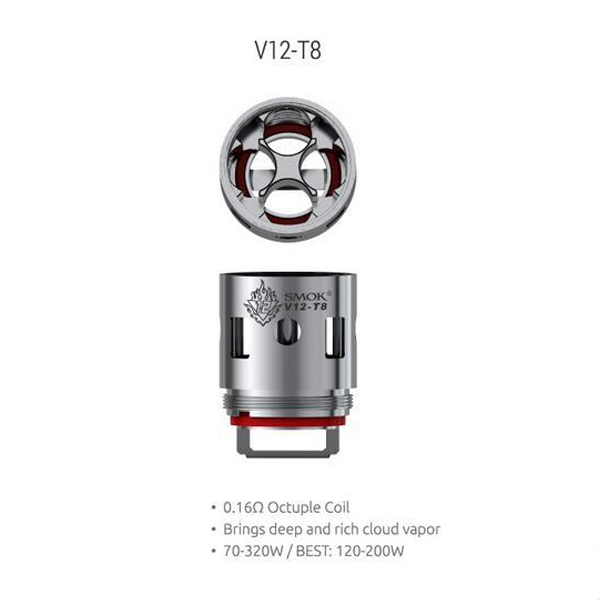 Smok TFV12 Cloud Beast King T8 Octuple Coil 0.16 ohm (3 Pack)
