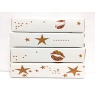 LipSense Lip Color Lipstick Gift Box Packaging (Gold Stars)
